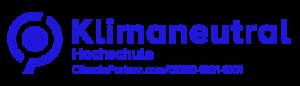 XU Exponential University of Applied Sciences, die Hochschule für die digitalisierte Zukunft der Arbeitswelt ist eine klimaneutrale Hochschule, durch Climate Partner bestätigt