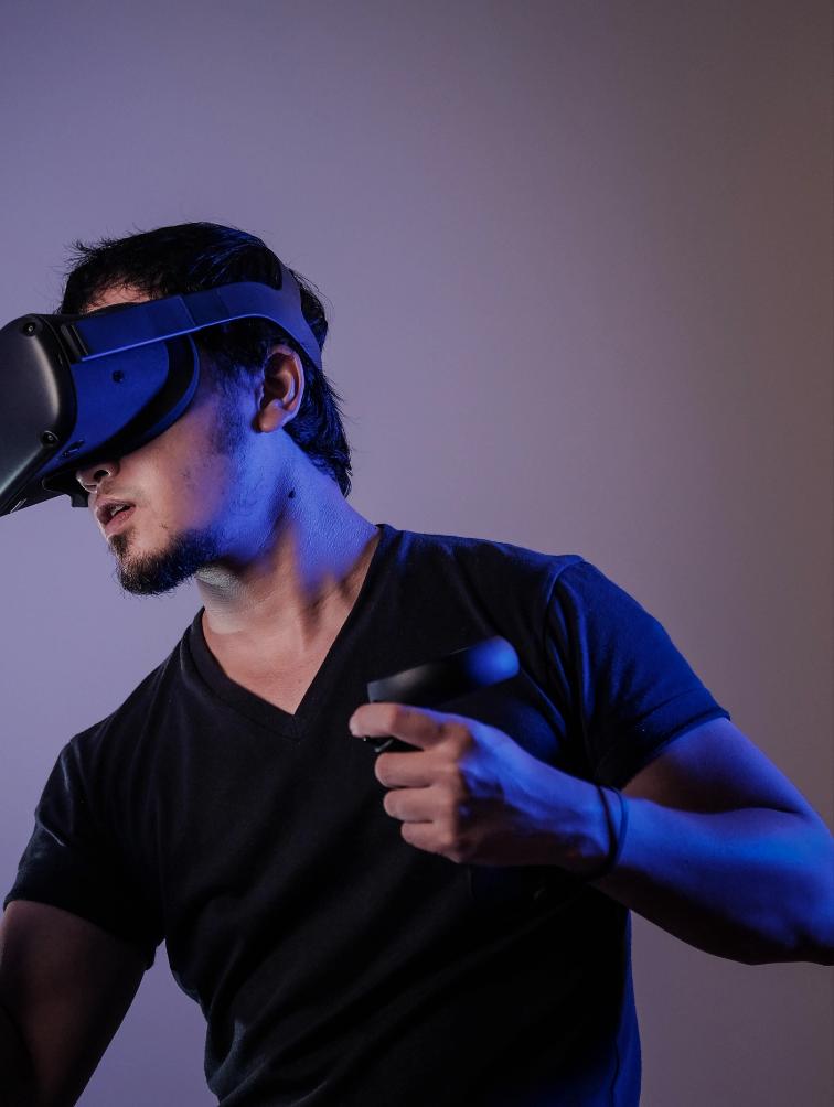 Man in VR